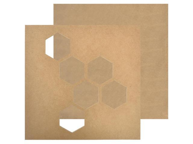 Beyond The Page Mdf Geo Hex Wall Art-11
