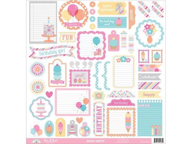 Sugar Shoppe This & That Cardstock Stickers 12