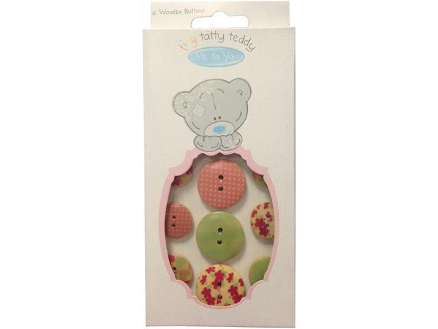 Tiny Tatty Teddy Wooden Buttons 12/Pkg-Girl