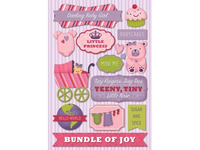 Baby Girl Cardstock Stickers 5.5