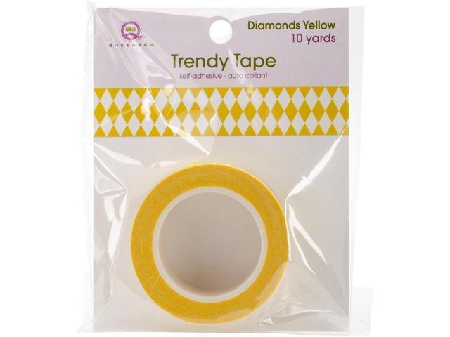 Queen & Co. Trendy Tape-Diamonds Yellow