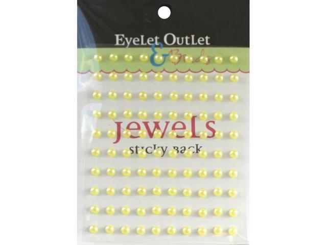 Bling Self-Adhesive Pearls 5Mm 100/Pkg-Yellow