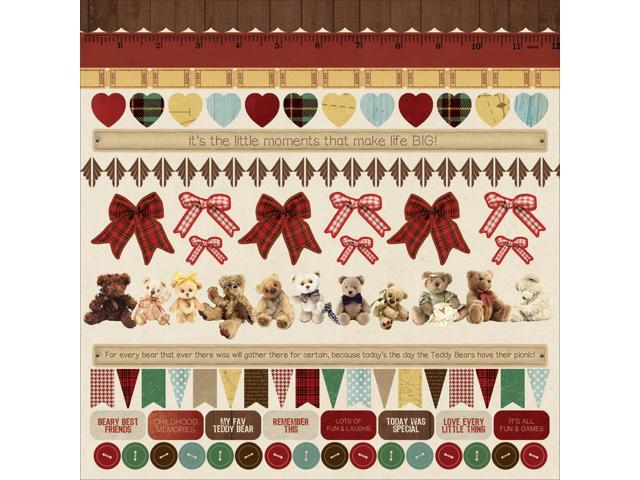 Teddy Bears Picnic Cardstock Stickers 12