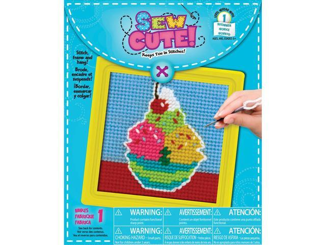 Ice Cream Learn To Sew Needlepoint Kit-6