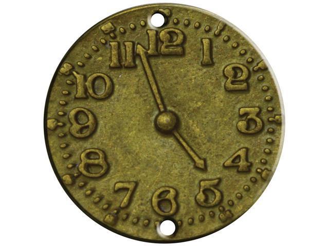 Brass Embellishments 15/Pkg -Clock Face