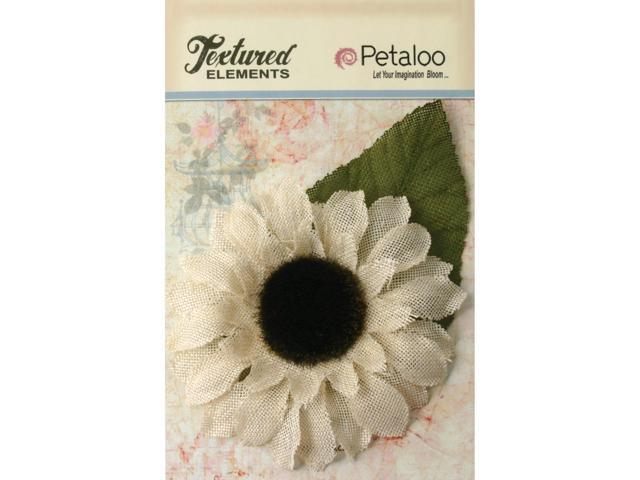 Textured Elements Burlap Sunflower 5