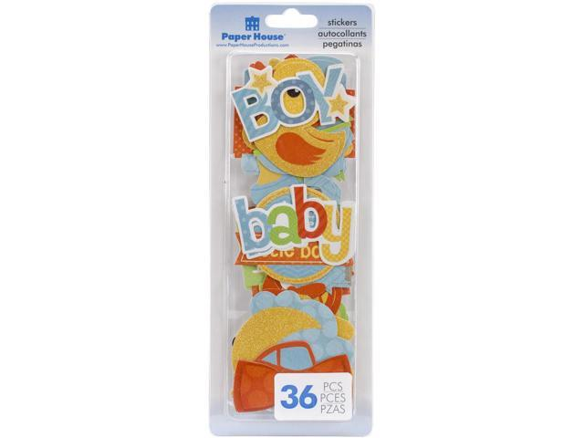 Paper House Die-Cut Stickers 36/Pkg-Baby Boy