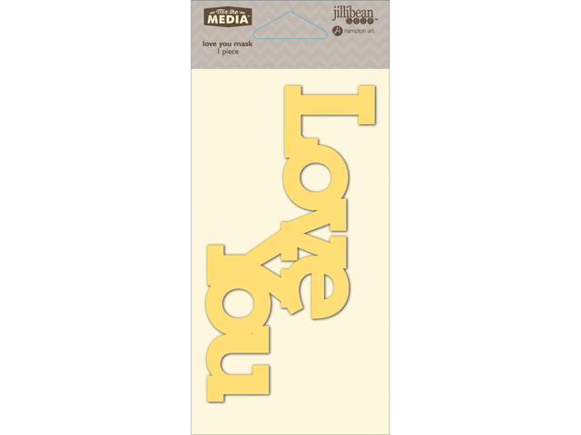 Mix The Media Word Stencil 6