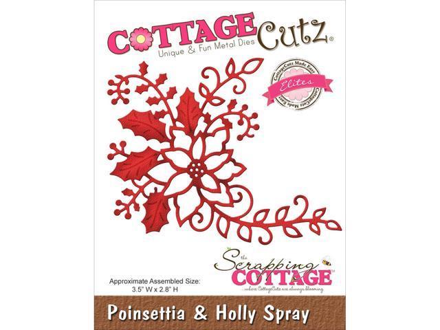 Cottagecutz Elites Die -Poinsettia & Holly Spray