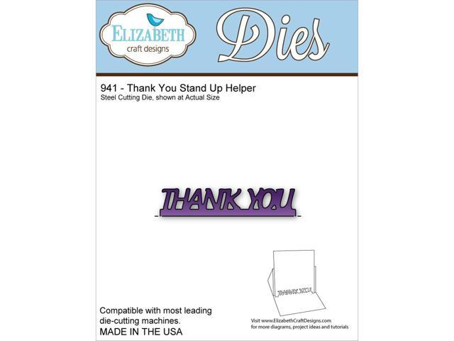 Elizabeth Craft Metal Die-Thank You Stand Up Helper