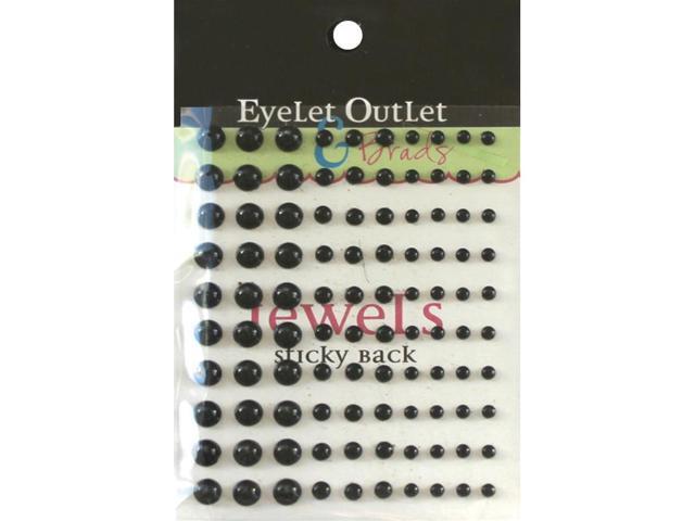 Bling Self-Adhesive Pearls Multi-Size 100/Pkg-Black