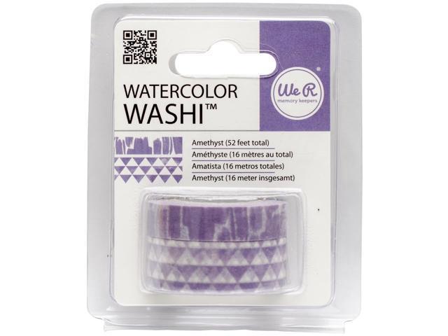 We R Watercolor Washi Tape 2/Pkg-Amethyst