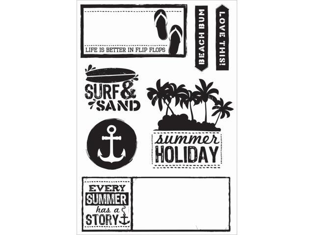 Sandy Toes Clear Stamps 6.25
