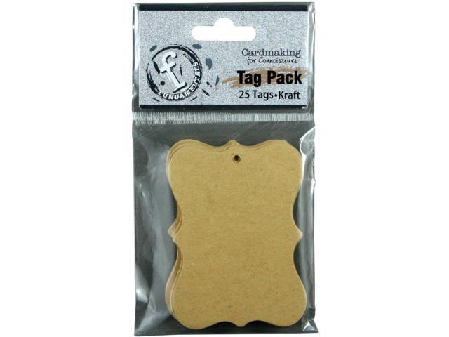 Fundamentals Tags 25/Pkg-Small Scallop/Kraft