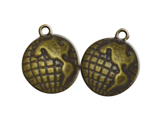 Brass Embellishments 30/Pkg-The World