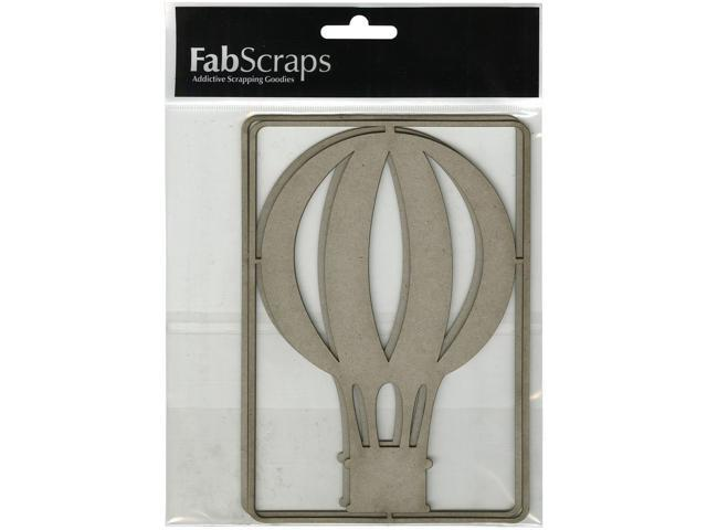 Die-Cut Gray Chipboard Embellishments-Hot Air Balloon 2/Pkg, 6.5