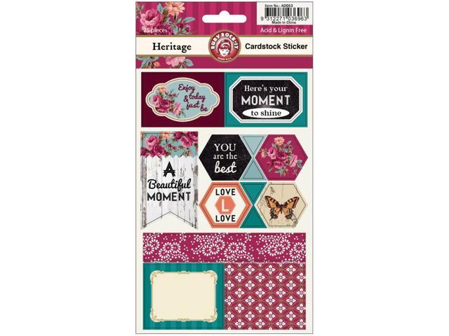 Heritage Cardstock Scrapbooking Stickers 2 Sheets/Pkg-