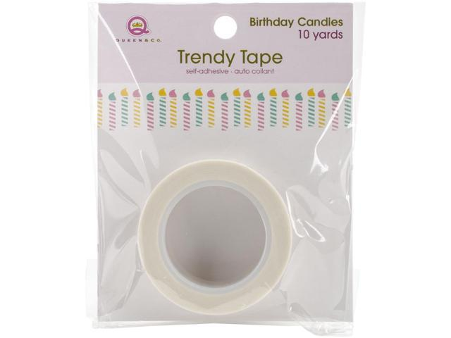 Queen & Co. Trendy Tape-Birthday Candles