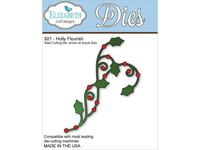 Elizabeth Craft Metal Die-Holly Flourish