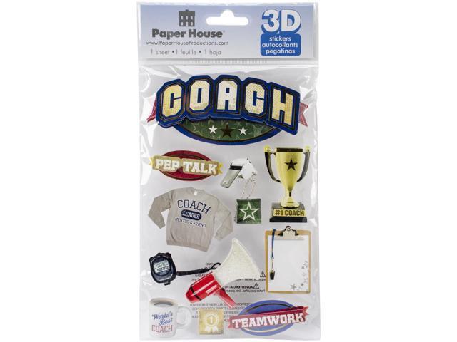 Paper House 3D Stickers-Coach