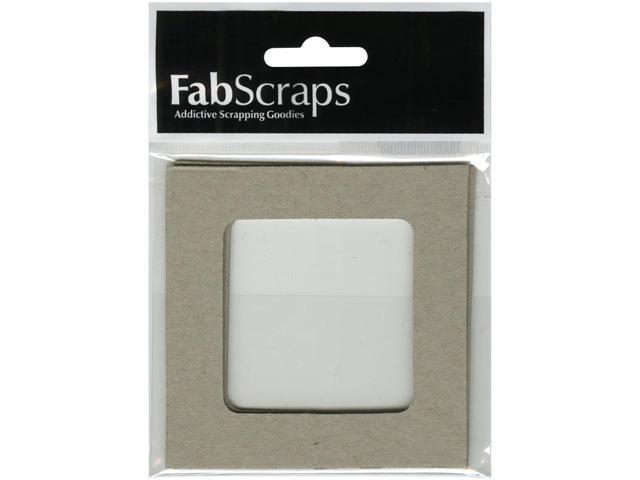 Die-Cut Gray Chipboard Embellishments-Square Frame