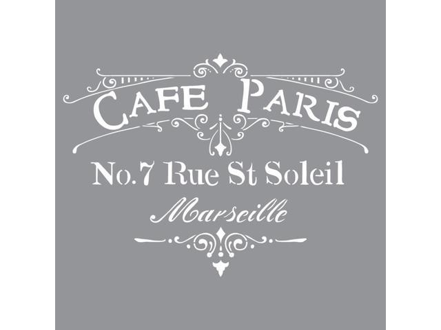 Americana Decor Stencil-Cafe Paris