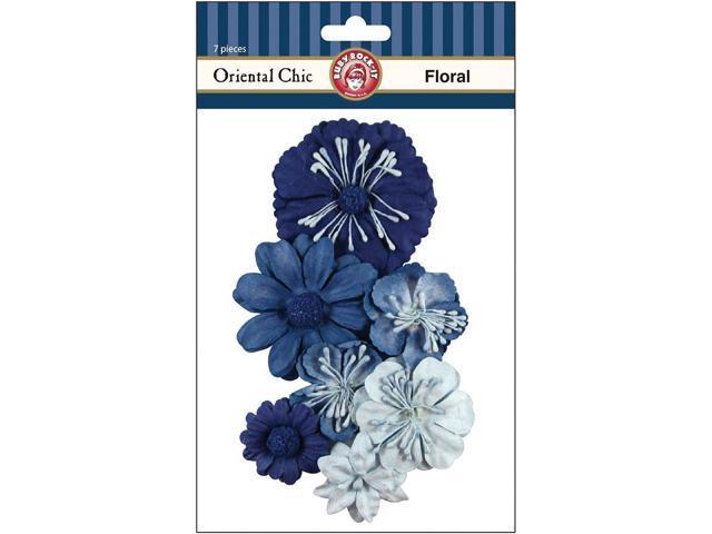Oriental Chic Paper Florals 7/Pkg-