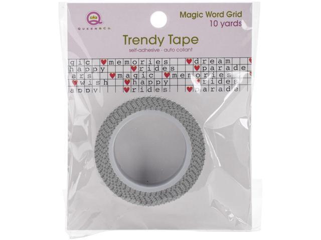 Magic Trendy Tape 15Mm X 10Yds-Word Grid