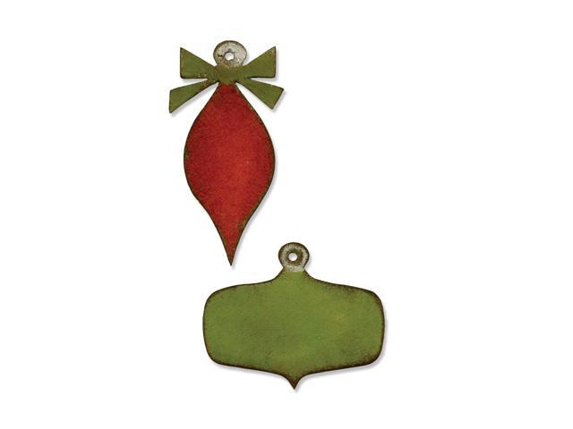 Sizzix Movers & Shapers Magnetic Dies By Tim Holtz 2/Pkg-Mini Retro Ornaments