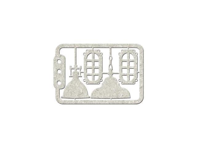 Die-Cut Gray Chipboard Embellishments-Lamps, 4.5
