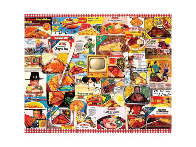 TV Dinners 1000 Piece Puzzle by White Mountain Puzzles