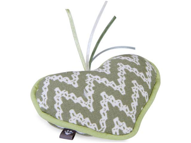 Loved Ones Refillable Heart Catnip Cat Toy-Green