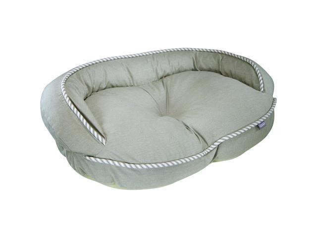 Loved Ones Constant Comfort Bolster Pet Bed-Medium-Green-32.75