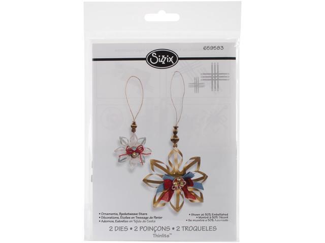 Sizzix Thinlits Dies 2/Pkg-Basketweave Star Ornaments
