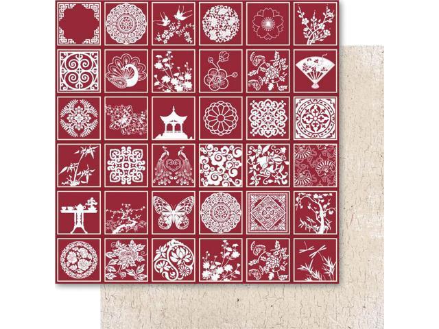 Oriental Chic Foil Cardstock 12