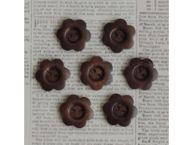 Wooden Shapes 7/Pkg-Stained Flower Buttons 1