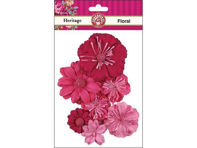 Heritage Paper Florals 7/Pkg-