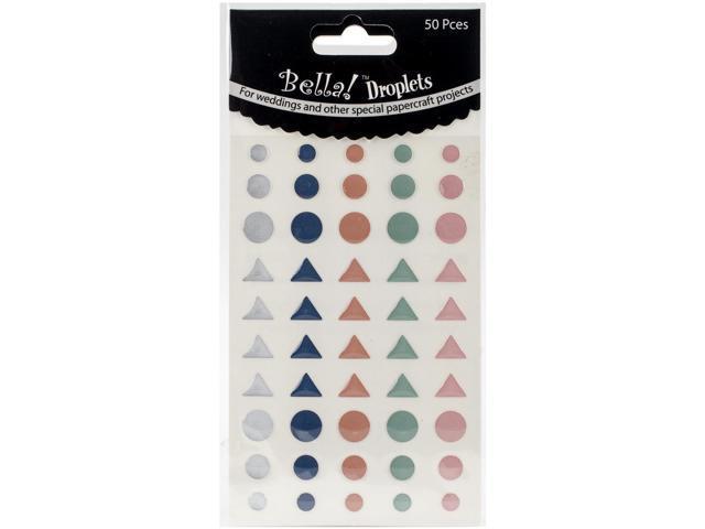 Bella! Wedding Self-Adhesive Droplets 50/Pkg-Pastel