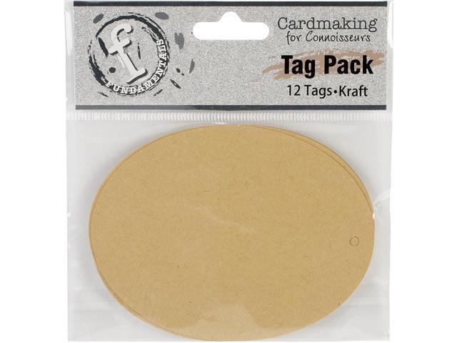Fundamentals Tags 12/Pkg-Large Oval/Kraft