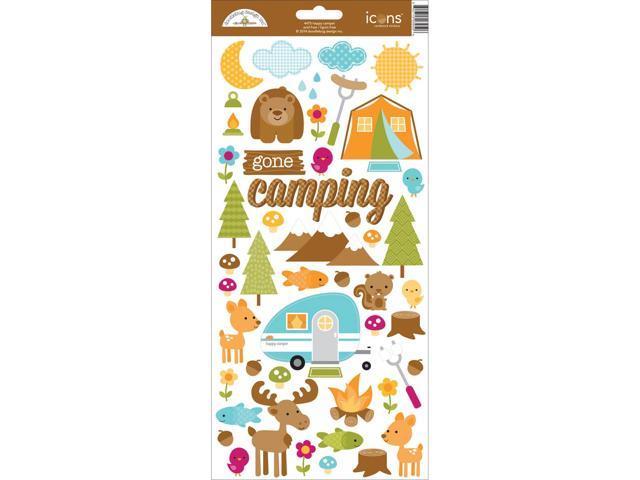 Happy Camper Cardstock Stickers 6