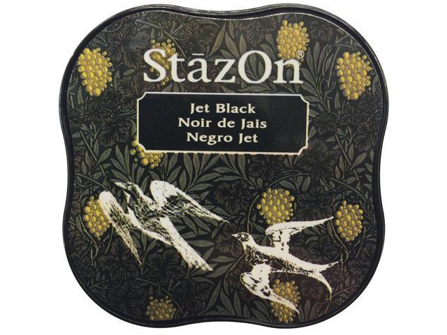 Stazon Midi Ink Pad-Jet Black