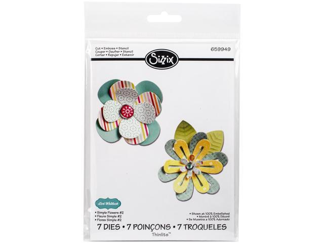 Sizzix Thinlits Dies 7/Pkg-Simple Flowers #2