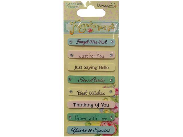 Forget-Me-Not Adhesive Toppers-