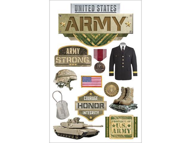 Paper House 3D Stickers-Army
