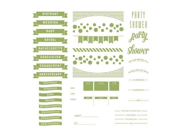 Lifestyle Letterpress Plates-Whimsy Invite