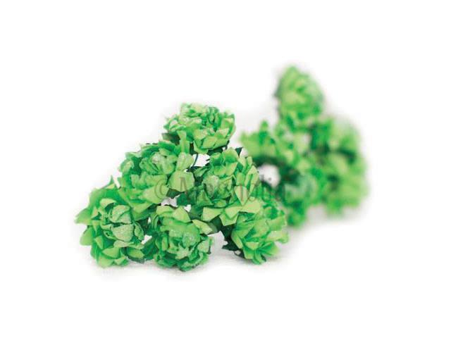 Vintage Tinsel Dahlias 10/Pkg-Green