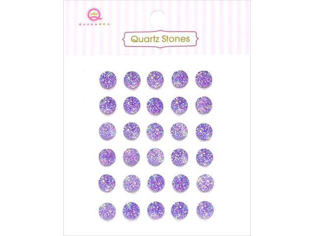 Quartz Stones Self-Adhesive Embellishments 30/Pkg-Purple