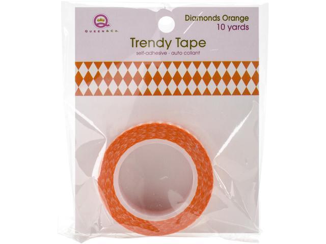 Queen & Co. Trendy Tape-Diamonds Orange