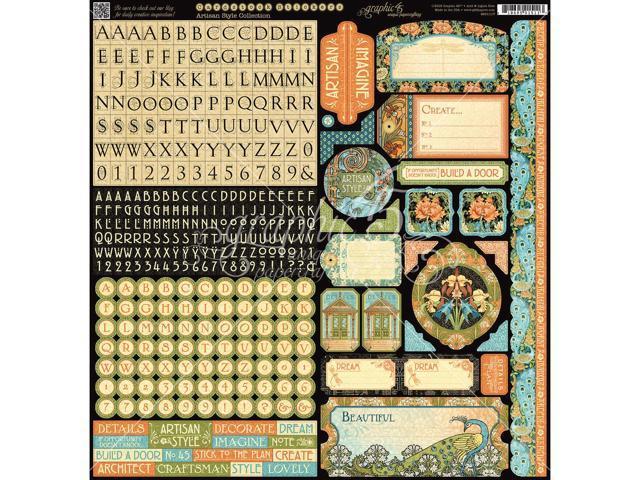 Artisan Style Cardstock Stickers 12