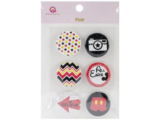 Magic Flair Self-Adhesive Tin Badges 6/Pkg-#3